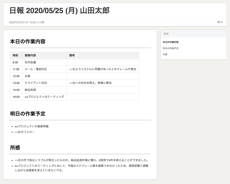 日報テンプレート3